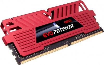 Оперативна пам'ять GeIL DDR4-3200 8192 MB PC4-25600 EVO Potenza Red (GPR48GB3200C16BSC)