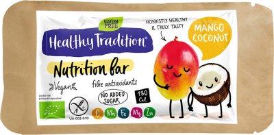 Упаковка батончиков Healthy Tradition Nutrition bar Манго, кокос 34 г x 10 шт (4820192430234)