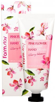 Крем для рук FarmStay Pink Flower Blooming Hand Cream Cherry Blossom с экстрактом цвета вишни 100 г (8809636280600)