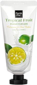 Крем для рук FarmStay Tropical Fruit Hand Cream Calamansi & Shea Butter с маслом ши и каламанси 50 мл (8809615881217)
