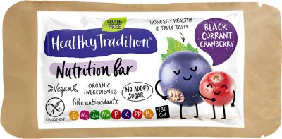 Упаковка батончиков Healthy Tradition Nutrition bar Черная смородина, клюква 34 г x 10 шт (4820192430616)
