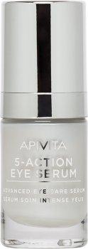Сыворотка интенсивного ухода Apivita 5 в 1 для кожи вокруг глаз 5-action Eye Serum 15 мл (5201279071660)
