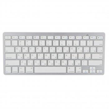 Бездротова клавіатура для комп'ютера BK3001 для телевізора ноутбука пк для смарт тв планшета (1006699-Silver-1)
