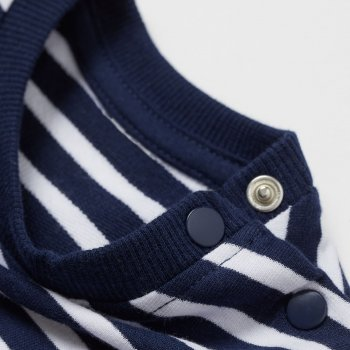 Свитшот H&M 502-8262041 Бело-синий в полоску