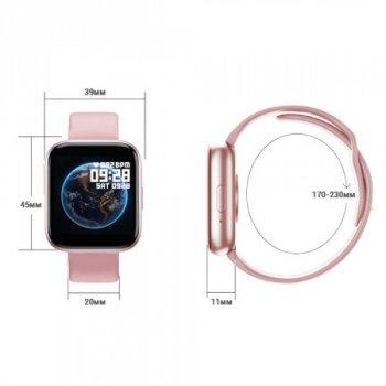 Смарт Годинник Smart Watch T99S Фітнес трекер Фітнес браслет Smart band з Голосовим викликом + Два браслета Pink
