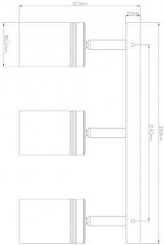 Спотовий світильник Ultralight TRL112 3x10 W чорний (UL-51529)