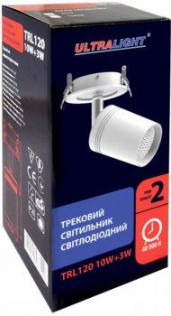 Спотовий світильник Ultralight TRL120 10 W + 3 W білий (UL-51531)