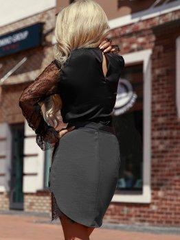 Спідниця Gepur 28164 Сіра з чорним