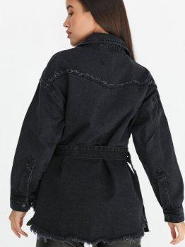 Джинсовая куртка Gepur 36519 Черная