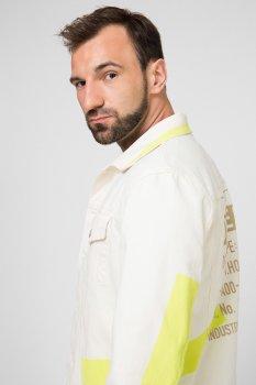 Чоловіча біла джинсова куртка NHILL-SP Diesel 00SHFZ 0DAYY