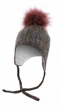 Зимняя шапка с завязками Elf-kids Милина 50 см Оранжево-голубая (ROZ6400026474)