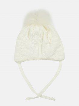 Зимняя шапка с завязками Elf-kids Флорида 42 см Молоко (ROZ6400026501)