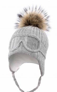 Зимняя шапка с завязками Elf-kids Македония Пайетка 50-52 см Серая (ROZ6400026601)
