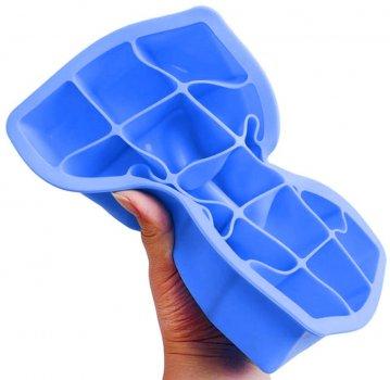 Форма для льда Kitchenio Кубик Голубая (2000992405508)