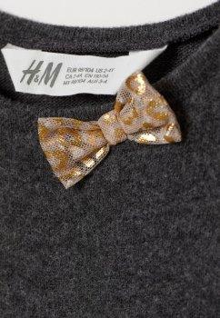 Джемпер H&M 0739897 Темно-сірий