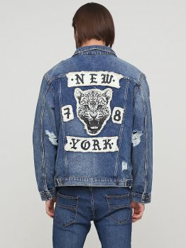 Куртка джинсовая H&M 0572508 Синяя
