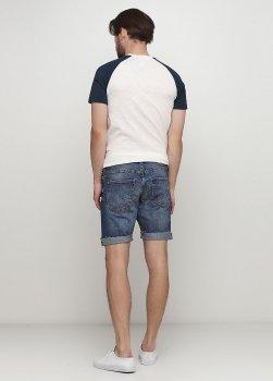 Шорты джинсовые H&M 0250457 Темно-синие
