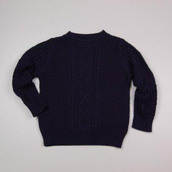 Теплый темно-синий свитер маленьким детям