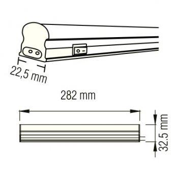 Світильник світлодіодний лінійний настінно-стельовий LED Horoz Electric SIGMA-4 4W 6400K 052-001-0030