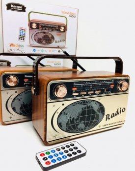 Аккумуляторный радиоприемник аудиосистема с пультом управления и Bluetooth радио Kemai MD-503BT
