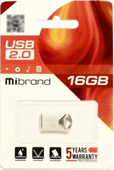 Mibrand Hawk 16GB USB 2.0 Silver (MI2.0/HA16M1S)