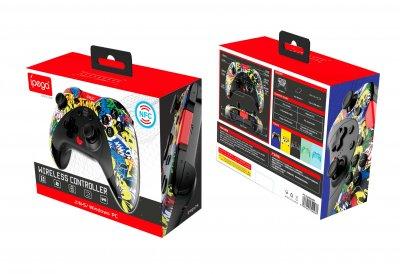 Беспроводной игровой геймпад iPega USB Type-C/Bluetooth/NFC PG-SW023EN  Android, PC, Switch  Colorful