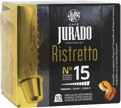 Кофе в капсулах Jurado Ristretto для системы Nespresso 5 г х 10 шт (8410894004534)