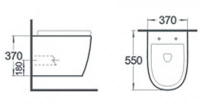 Унитаз подвесной NEWARC Modern Rimless 3823W New c сиденьем Soft Close дюропласт