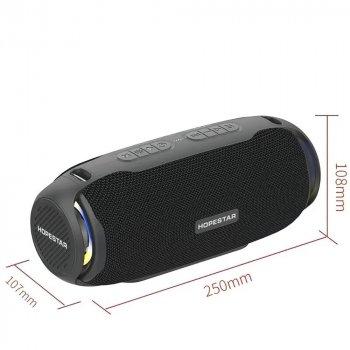 Портативная Bluetooth колонка HOPESTAR H48 + LED подсветка Black