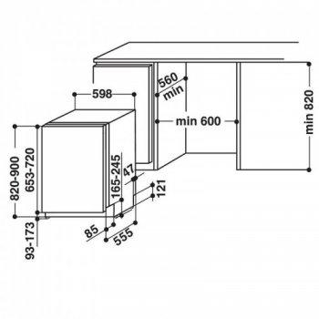 Посудомоечная машина WHIRLPOOL WIF5O41PLEGTS (F00241710)