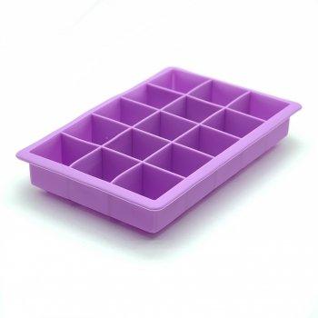 Силиконовая форма для льда и конфет Кубик (сиреневый) Stenson (10232 LI)