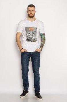 Мужская хлопковая футболка Time of Style 627F012 Белый