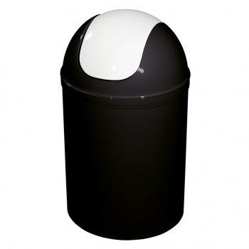 Відро для муссора Leroy Merlin 5 л Чорно-біле (12058361)