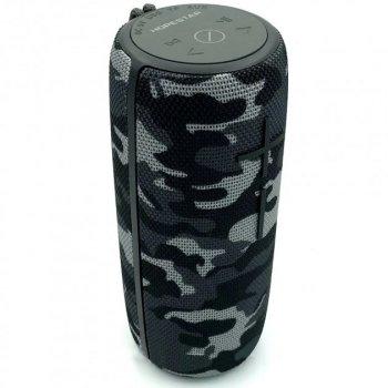 Портативная беспроводная блютуз колонка Hopestar P21 WS Камуфляж 10 ВТ акустика с радио флешкой и влагозащитой Bluetooth 3.0 USB и MicroSD (48034)