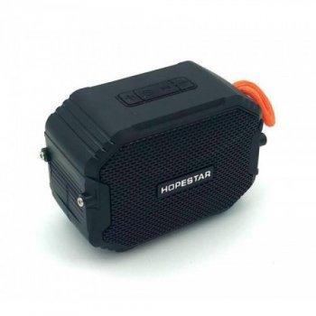 Портативна бездротова блютуз колонка Hopestar T8 Bass Mini Speaker 3 Вт з флешкою радіо FM і захистом від вологи Bluetooth 5.0 Чорна (48288)