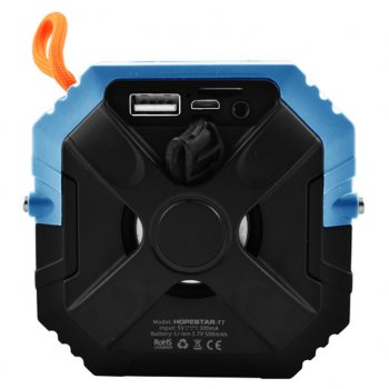Портативна бездротова блютуз колонка Hopestar T7 Bass Mini Speaker 3 Вт з флешкою радіо FM і захистом від вологи Bluetooth 5.0 Синя (48286)
