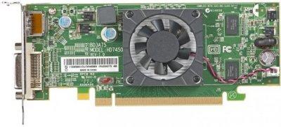 Видеокарта AMD Radeon HD7450, 1Gb DDR3 64bit (Low Profile) Б/У