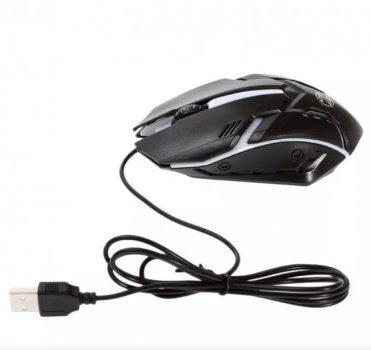 Мышь проводная ZORNWEE GM02 Черная с RGB подсветкой оптическая игровая 1600 dpi