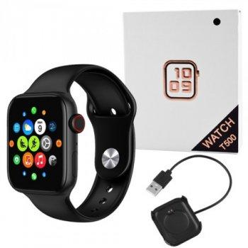 Смарт годинник фітнес браслет Smart Band Т500 black чорний