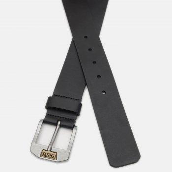 Мужской ремень кожаный Levi's New Legend 219406-3-59 100 см Regular Black (7613267431161)