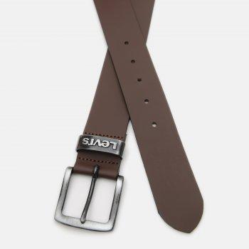 Мужской ремень кожаный Levi's Pilchuck 227080-3-28 90 см Brown (7613369750542)