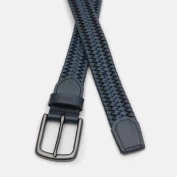 Мужской ремень кожаный Levi's Woven Leather Stretch Belt 233181-3-17 85 см Navy Blue (7613417704831)