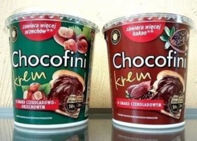 Набор шоколадной пасты(2шт) Milimi Chocofini Czekoladowa и Chocofini Krem с шоколадно-ореховым вкусом
