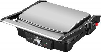 Електрогриль притискної контактний ECG KG 100 2000 Вт антипригарне відкриття 180 градусів барбекю 2 жарочні поверхні регульований термостат