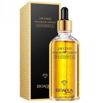 Сыворотка гиалуроновой кислоты с золотом BioAqua для лица и тела 100мл (0239)