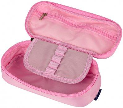 Пенал Bourgeois школьный ЕМ5504-PN мягкий на молнии искусственная кожа розовый 20х6.5х5.5 см (РП182/2) (6941078773035)