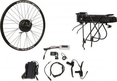 "Електричний велонабір на багажник Velotrade Мотор-колесо 26"" задній редуктор 500 Вт 48 В 12.5 А·год 20 A (ELBK-069)"