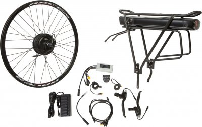"Електричний велонабір на багажник Velotrade Мотор-колесо 27.5"" задній редуктор 350 Вт 36 В 12.5 А·год 17 A (ELBK-065)"