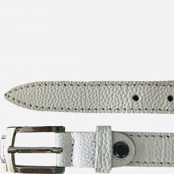 Женский ремень кожаный Sergio Torri 8-0043 125 см Белый (2000000014746)