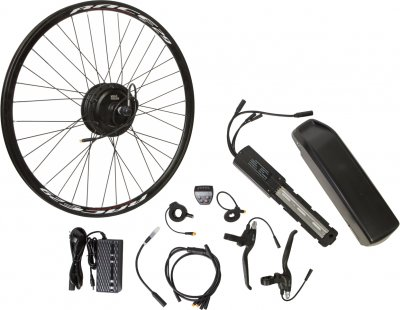 "Електричний велонабір на раму Velotrade Мотор-колесо 29"" задній редуктор 350 Вт 36 В 12.5 А·год 17 A (ELBK-056)"